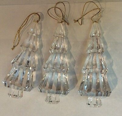 Bells - Trees- Angels - Clear Acrylic Hanging Ornaments Decor