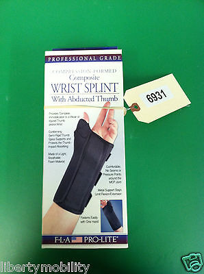 FLA Compression Formed Composite Wrist Splint With Abducted Thumb XS RIGHT #6931