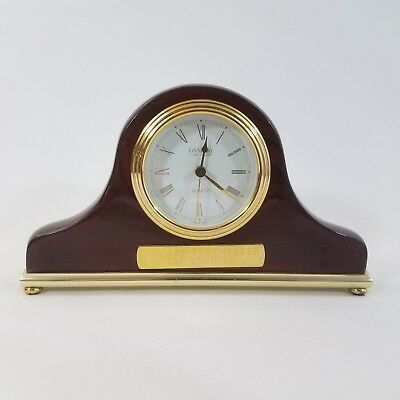 Vintage Danbury Clock Company Mahogany Wood Mantle Clock You Are Remembered