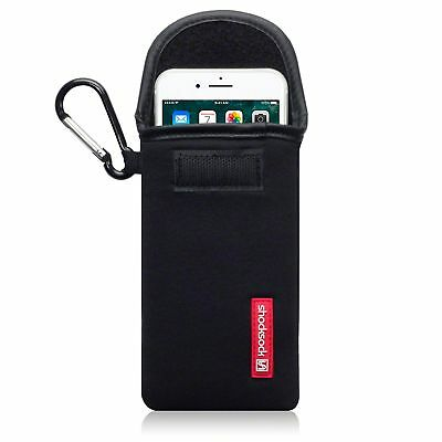 For Apple iPhone 7 / 8 Shocksock Neoprene Pouch Sleeve Case With Clip - Black