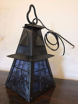 Beautiful vintage French arts and crafts Tudor outdoor porch ceiling wall light