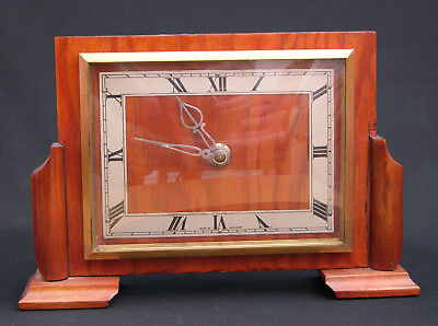 Charming 1950s Art Deco Smiths Mantel or Table Clock, Parts or Repair