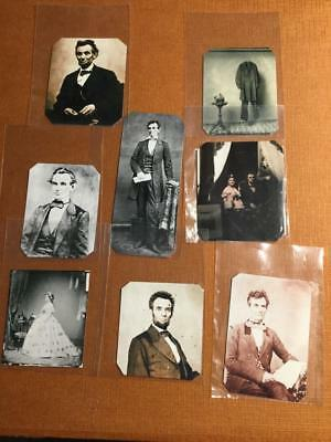 Lot Of 8 A.Lincoln related Historical Museum Quality tintypes reproductions