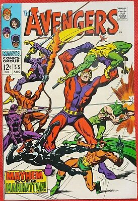 AVENGERS 55 Marvel Silver Age 1968 First appearance of Ultron-5