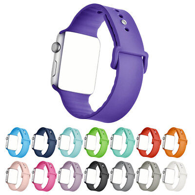 Replacement Silicone Wrist Bracelet Sport Band Strap For  Watch 42mm 38mm