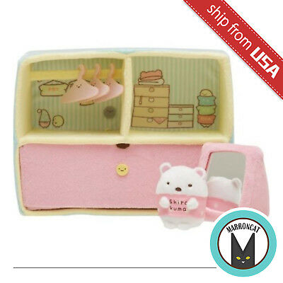 Japan San-X Sumikko Gurashi Closet Wardrobe House Scene Plush White Bear Cute US