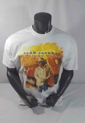 "2010 ALAN JACKSON ""Freight Train"" Concert Tour T-Shirt Size XL(46-48)"