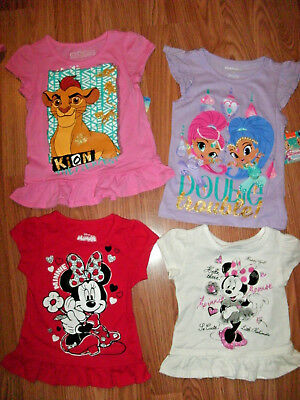 Girls SHIRT *2T 3T 4T 5T* Short sleeve Minnie RED PINK Shimmer Shine Lion Guard