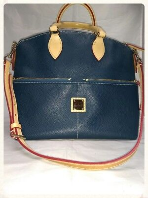 Dooney & Bourke Large Pebble Leather two Pocket Satchel DS35