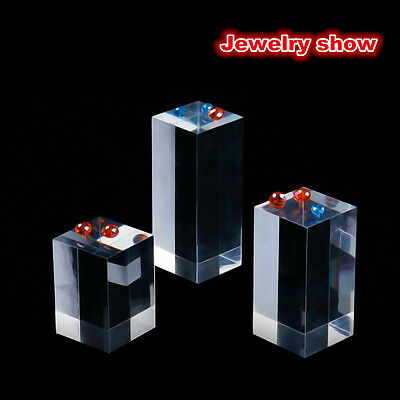 Clear Square Acrylic Earring gem display stand Rack Jewelry Show Case Holder