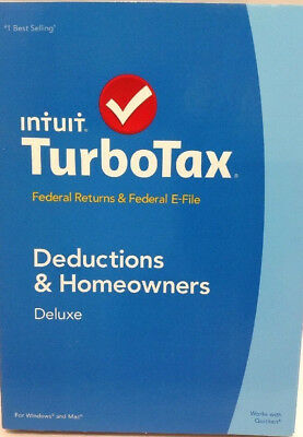 TurboTax Deluxe 2014 Federal Returns & Federal E-File (NO STATE Included)