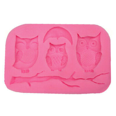 Animals Owl and Tree Branch Design Candy Chocolate Fudge Diy Baking Soap Molds
