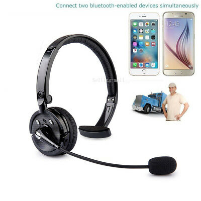 Bluetooth Headset Wireless Headphones Noise Cancelling with Mic for Truck Driver
