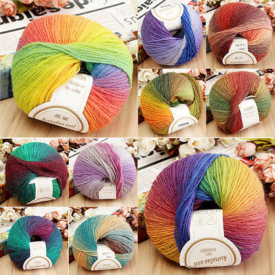10PCS 100% Super Wool Line Knitting Wool Yarn Bulk Ball 50g 10 Color Available