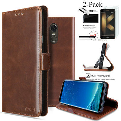 For LG G Stylo 3 / LG K20 Plus Leather Wallet Protective Case Pouch Stand Cover