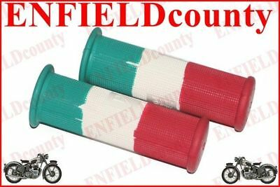 VESPA SCOOTER PAIR RUBBER ITALIAN FLAG GRIP SET 22mm VBB SUPER SPRINT RALLY @AU