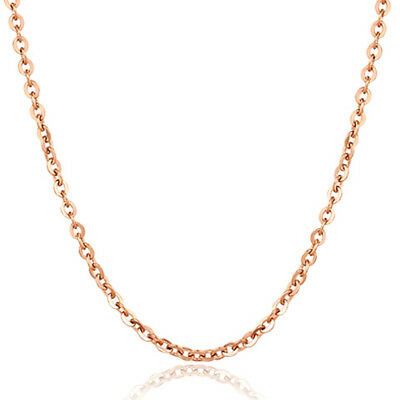 100pcs Lot womens stainless steel Rose Gold rolo chain necklaces 1.5/2/2.5/3.2mm