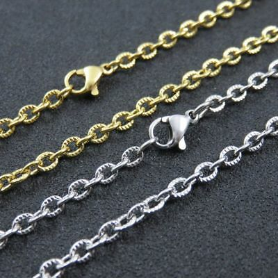 """16""""-30"""" Fashion Womens 3mm Stainless Steel Rolo Link Chain Necklace Silver Gold"""
