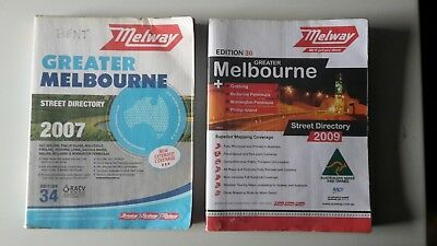 2 x Melway street directories edition 34 & 36