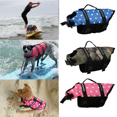 Dog Vest Swimming Float Safety Reflective Pet Clothes Life Jacket For Puppy Aid