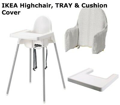 Baby Highchair With Safety Strap Cover & Matching Tray Ikea Antilop High Chair