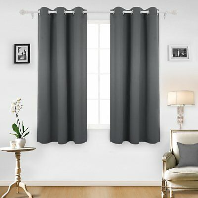 Thermal Insulated Blackout Grommet Window Curtain for Living Room 1 Panel