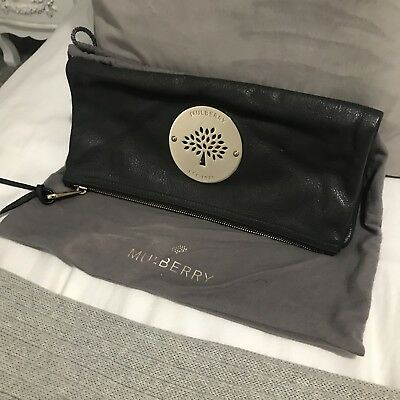 b41a55feca2 Mulberry Daria Clutch Bag In Mouse Grey, Good Condition. 100% Authentic