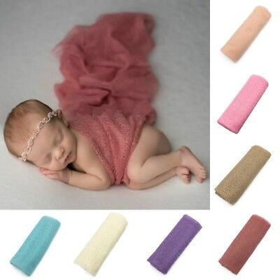 Newborn Baby Hollow Out Crochet Wrap Cocoon Swaddle Photography Photo Prop UK