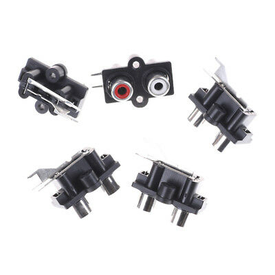 5pcs 2 Position Stereo Audio Video Jack PCB Mount RCA Female Connector EV