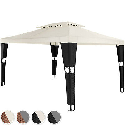 Poly Rattan Gazebo pavilion outdoor garden marquee party tent sunshade 3,9x3m