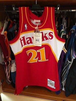 Dominique Wilkins Nba Jersey  Atlanta Hawks 100% Mitchell And Ness Size 40 / M