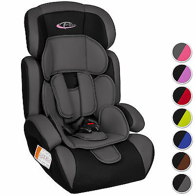 Convertible Baby Child Car Seat & Booster Group 1 2 3 9-36 kg- different colours