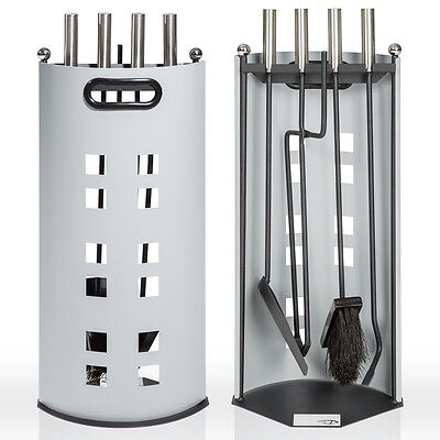 Metal 5 Piece Fireplace Tool Set Fireside Companion Set