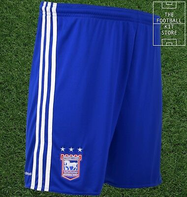 Ipswich Town Home Shorts - Official adidas Football Shorts - Mens - All Sizes
