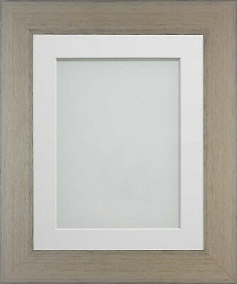 Frame Company Kingswood Range Taupe Wooden Rustic Picture Photo Frames and Mount
