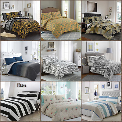 Royyaltex 100% Egyptian Cotton Printed Duvet Cover Sets Bedding Sets All Sizes