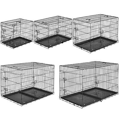 Dog crate Cage Carrier Puppy Pet Animals transport foldable wire crate