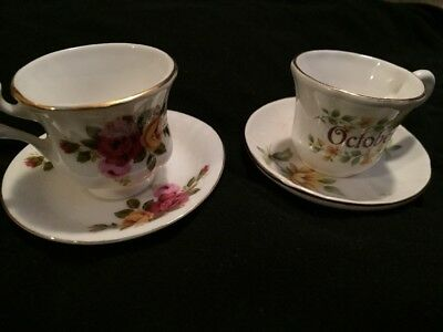Bone China Tea Cup And Saucer Ornaments