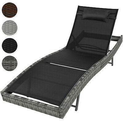 Rattan day bed sun canopy lounger recliner garden furniture patio terrace