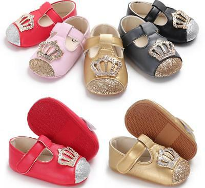 Baby Girl Pram Shoes Infant Princess Mary Janes First Shoes Newborn to 18 Months