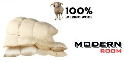 Merino Wool Pure Duvet Quilt + Pillow 500 gsm 8 - 10,5 tog Single Double King