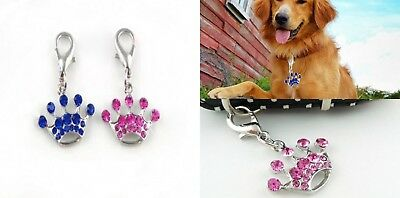 Pet Tags Collar Charm Pendant Rhinestone Crown Jewelry Necklace For Dog Cat Gift