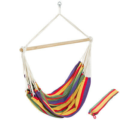 Hammock chair indoor outdoor with carry bag garden camping cotton swing seat