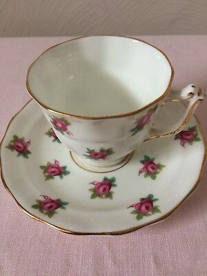 Old Royal, Pink Rose, Bone China, Cup And Saucer