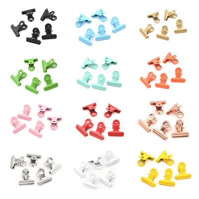 5pcs/lot Cute Metal Binder Clips Folder Notes Letter Paper Clip Clamp FAUS