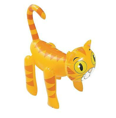 Inflatable Ginger Cat Tabby Kitten - Kids Fun Blow Up Animal Pet Party Toy Gift