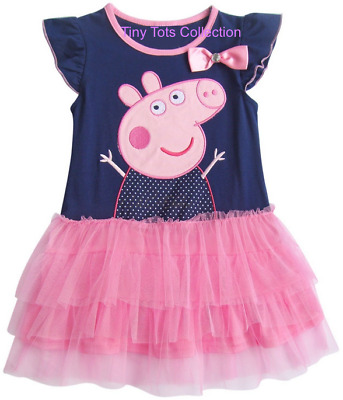NEW with tags BNWT Peppa pig dress navy pink tutu party size 1
