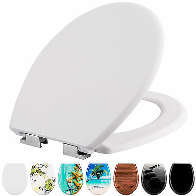 High quality printed WC toilet seat lid stable hinges modern soft close