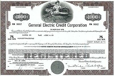 General Electric Credit Corporation, 1975,  7% Note due 1979  (1.000 $)