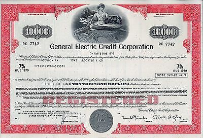 General Electric Credit Corporation, 1976,  7% Note due 1979  (10.000 $)